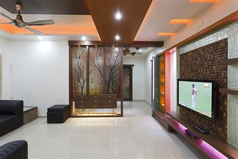 designer decor interior designs for living room tv room interiors pune