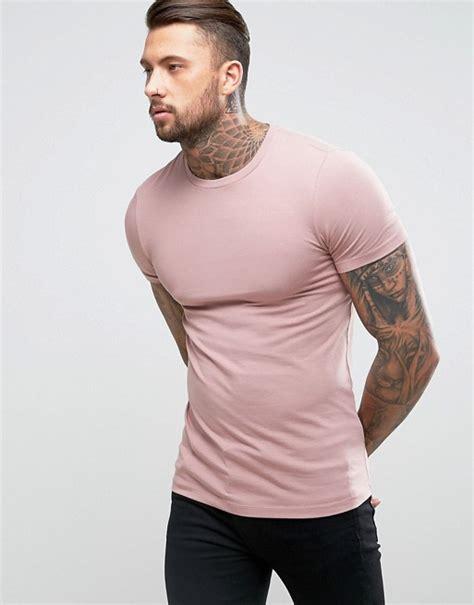 Asos T Shirt In Pink asos design asos fit crew neck t shirt in pink