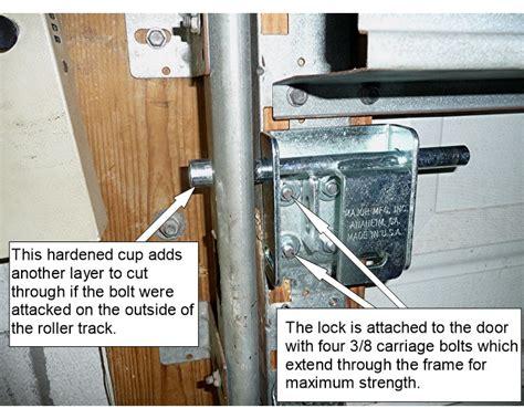 How To Secure Garage Door by Garage Garage Door Security Locks Home Garage Ideas