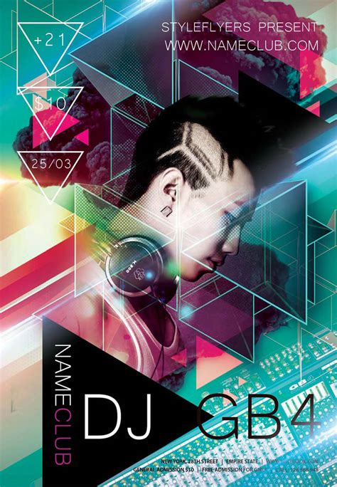 flyer design dj new party season free psd flyer templates graphicsfuel