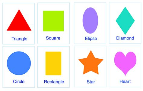 make flash cards of shapes