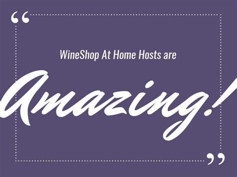 toast to the host wineshop at home
