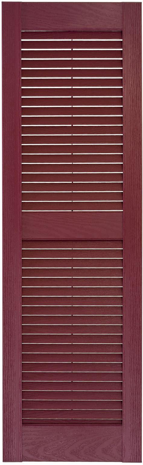 14 1 2 quot custom louvered single wide exterior vinyl shutter