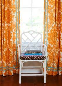 Blue And Orange Curtains Cococozy Room To A Visually Entertaining Family Room