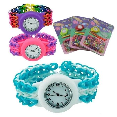 D 636 Paket Set Xuping diy loom band uhr set gr 252 n morgenthaler s partyshop