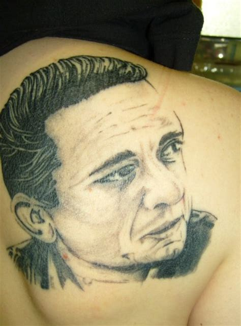 a portrait of johnny cash by inkwell tattoos on deviantart
