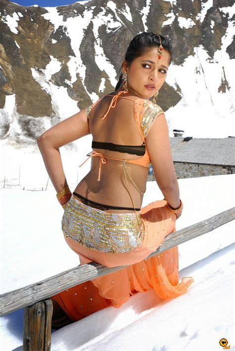 Blouse By D anushka shetty in backless blouse photos and navel