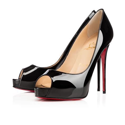 new prive 120 black patent leather shoes christian louboutin