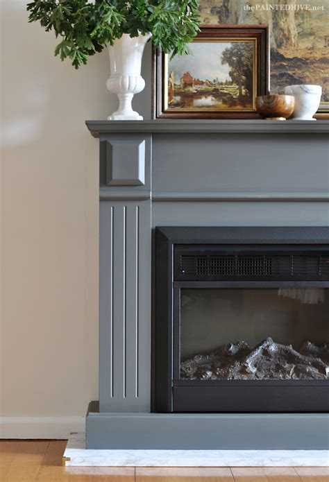 Paint Marble Fireplace by The Painted Hive Easy Diy Marble Hearth And A