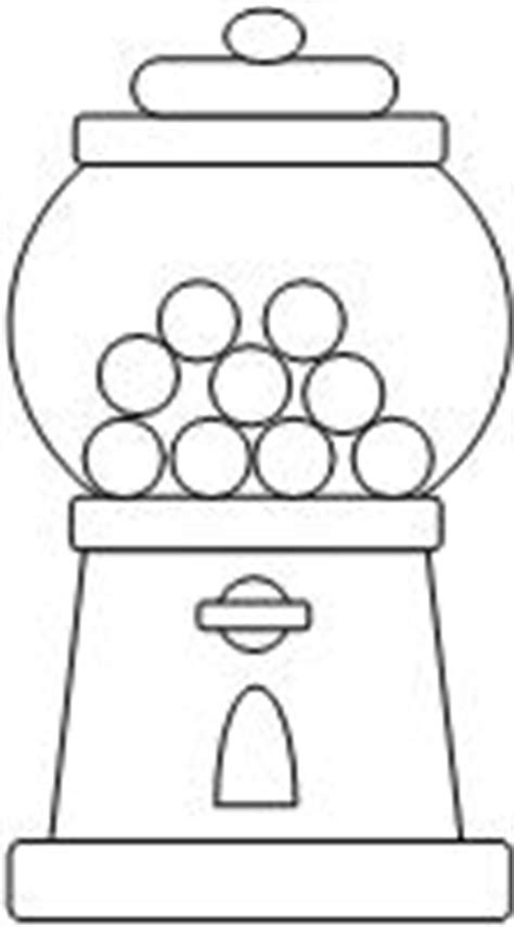 empty gum ball machine colouring pages