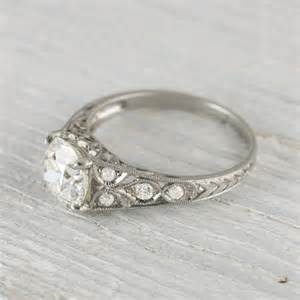 1 81 carat edwardian vintage engagement ring vintage