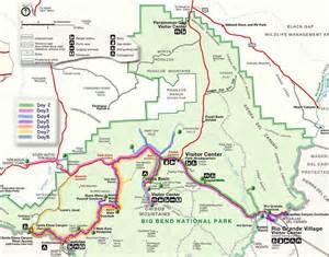 trip map big bend