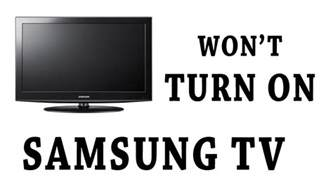 samsung tv wont turn on no light how to adjust the
