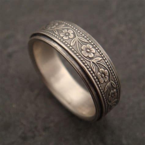 flower wedding band ring wedding band floral wedding ring in sterling silver 2428538 weddbook
