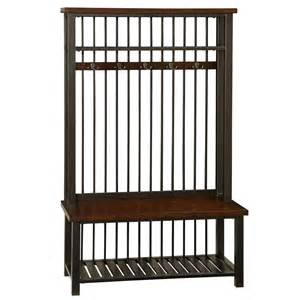 Entryway Hall Tree Storage Bench Home Styles Cabin Creek Hall Tree By Oj Commerce 5411 49