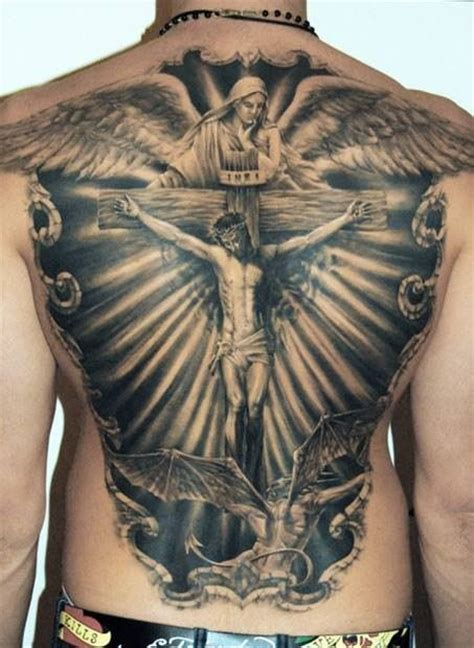 cross tattoo back religious tattoos for designs ideas and meaning