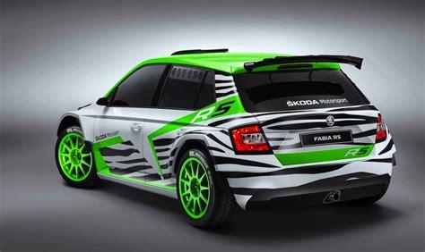 2015 mitsubishi rally car skoda fabia r5 concept previews 2015 wrc 2 rally car