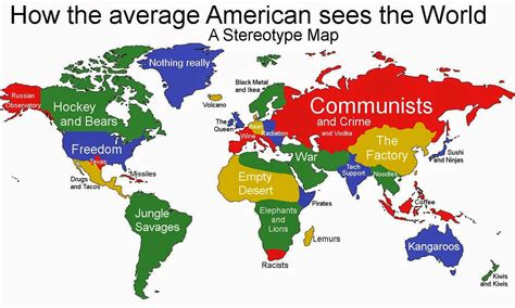 map of the world america the 5 most infuriating stereotype maps of the world free