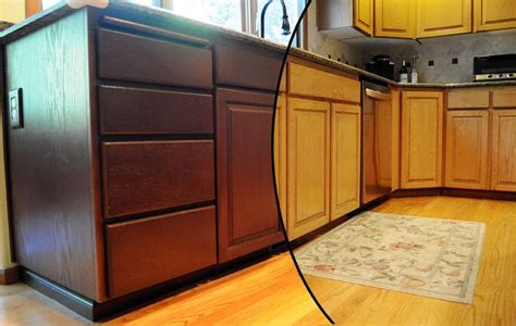 painted oak cabinets before and after cabinets before