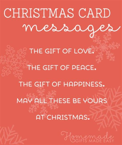 christmas card messages wishes and sayings