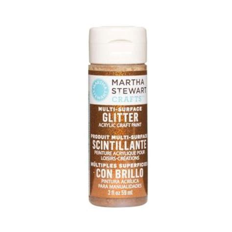 martha stewart crafts 2 oz opal multi surface glitter acrylic craft paint 32166 the home