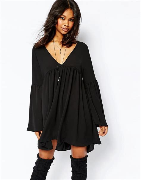 boohoo swing dress boohoo boohoo folk mini swing dress at asos