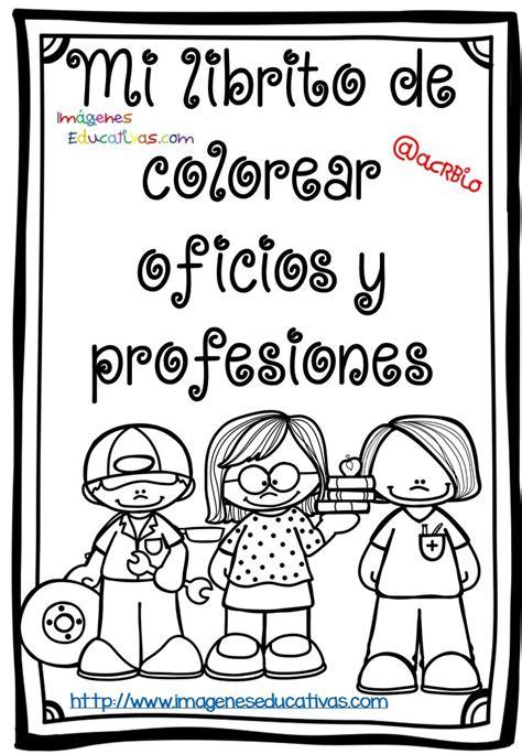 imagenes educativas para imprimir y colorear mi librito de colorear oficios y profesiones 1