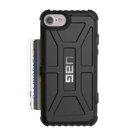 Uag Samsung Galaxy S7 Trooper Card Black Black uag trooper iphone 7 protective wallet black