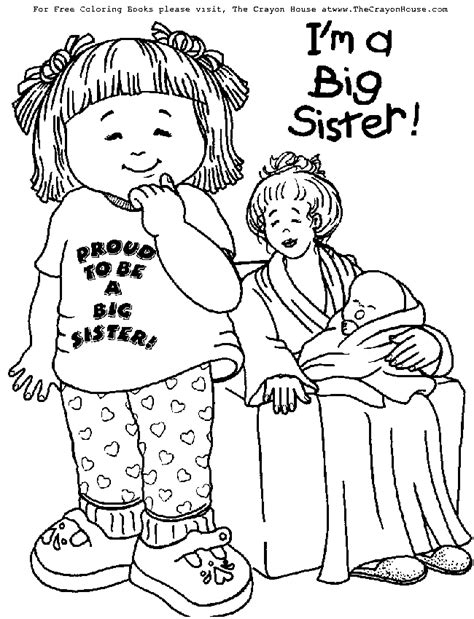 big sister coloring pages az coloring pages