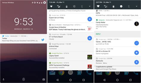 android notifications android n what s new in the developer preview what s still to come greenbot