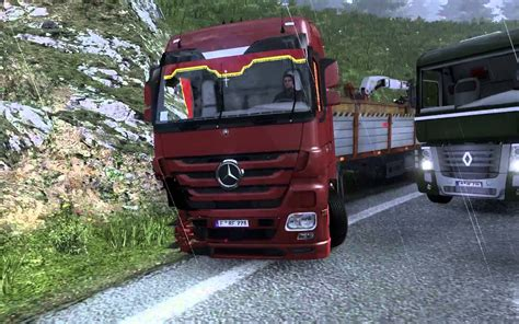 euro truck simulator 2 mod game crash разбили мерс accident smashed mercedes part 1 euro