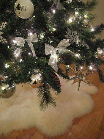 2 faux sheepskin rugs from ikea make a fluffy christmas
