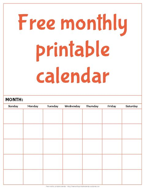 monthly printable calendar monthly printable