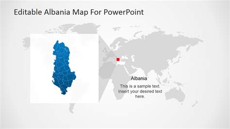 editable albania powerpoint map slidemodel