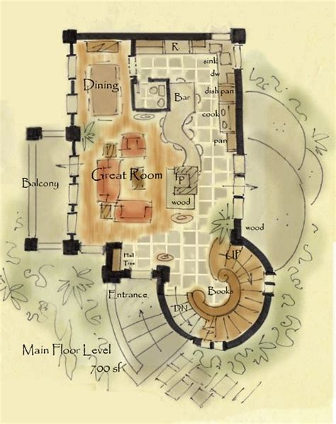 hobbit house floor plans storybook cottage house plans hobbit huts to cottage castles