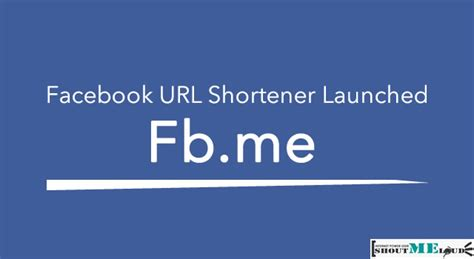 fb html fb me facebook url shortener launched