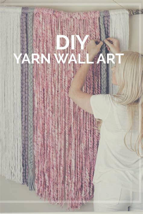diy home diy yarn wall art wall hanging macrame