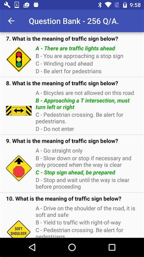 free dmv practice test for california permit 2018 ca dmv practice test 2018 android apps on google play