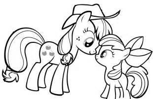 my pony coloring page my pony looking at each other coloring page