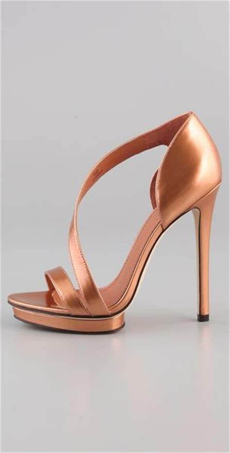 bronze high heel shoes b brian atwood consort high heel sandals in gold bronze