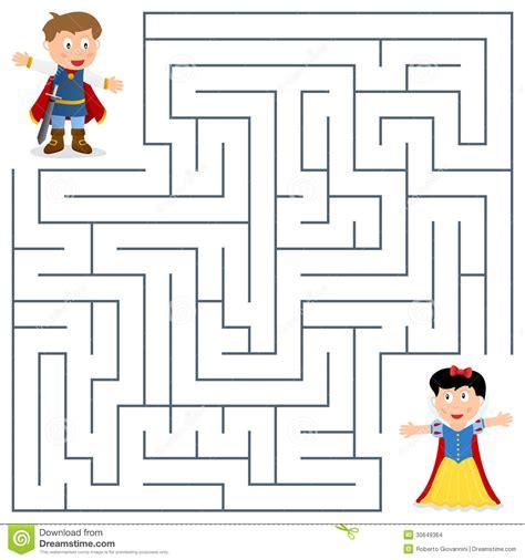 Lavenda Maxy Gamis prince et princesse maze pour des enfants images stock