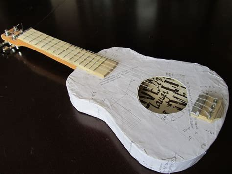 How To Make A Guitar With Paper - paper ukulele do it yourself