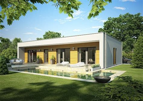 bungalow okal okal haus stellt moderne flachdach bungalows vor okal
