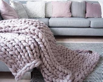 decke grobstrick chunky knit blanket etsy