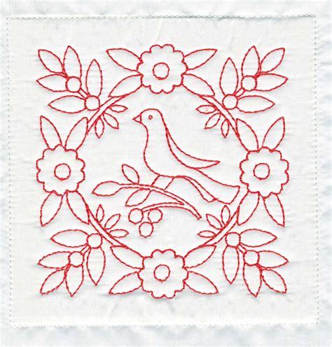 embroidery design redwork treasures n textures redwork quilt block