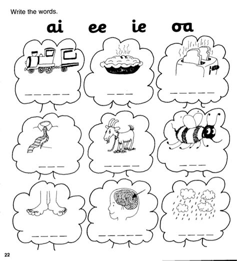 ie pattern words 100 vowel digraphs ee ea worksheets double vowel