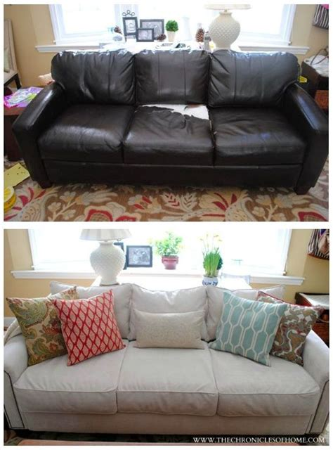 Can A Leather Sofa Be Reupholstered In Fabric by The Reveal Upholstered Sofa Home And The O Jays