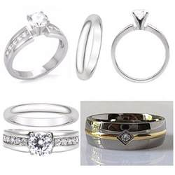wedding ring sets and 3pcs titanium and stainless steel s engagement