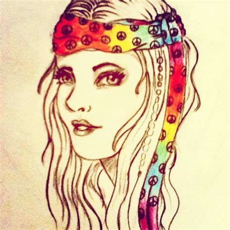 hippie drawing hippie by speckledeyes on deviantart