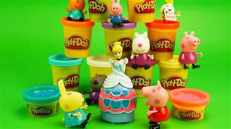 Dijamin Dough Princess Toys play doh disney princess peppa pig and friends playdoh